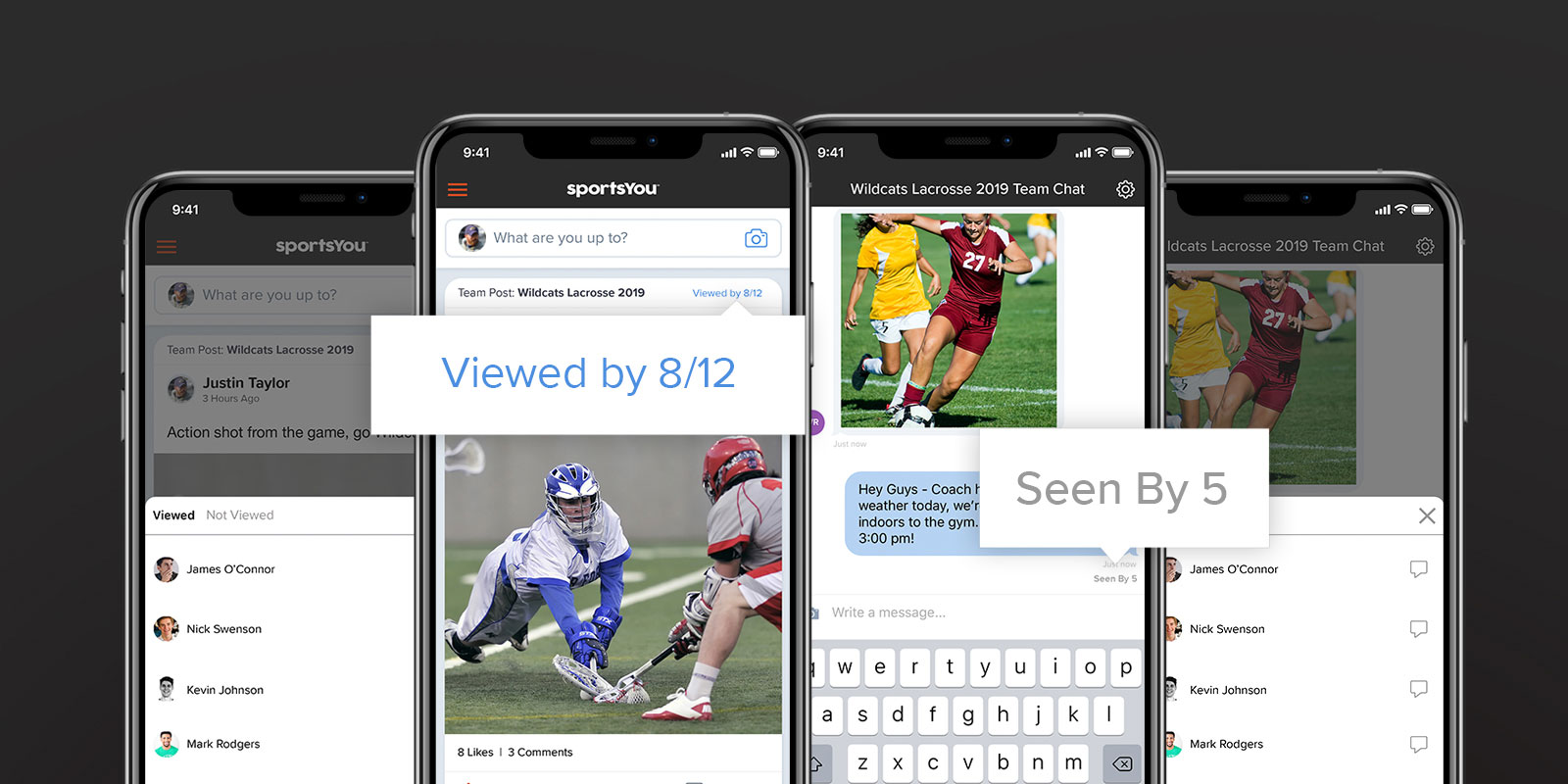 Track post and chat viewed counts with sportsYou