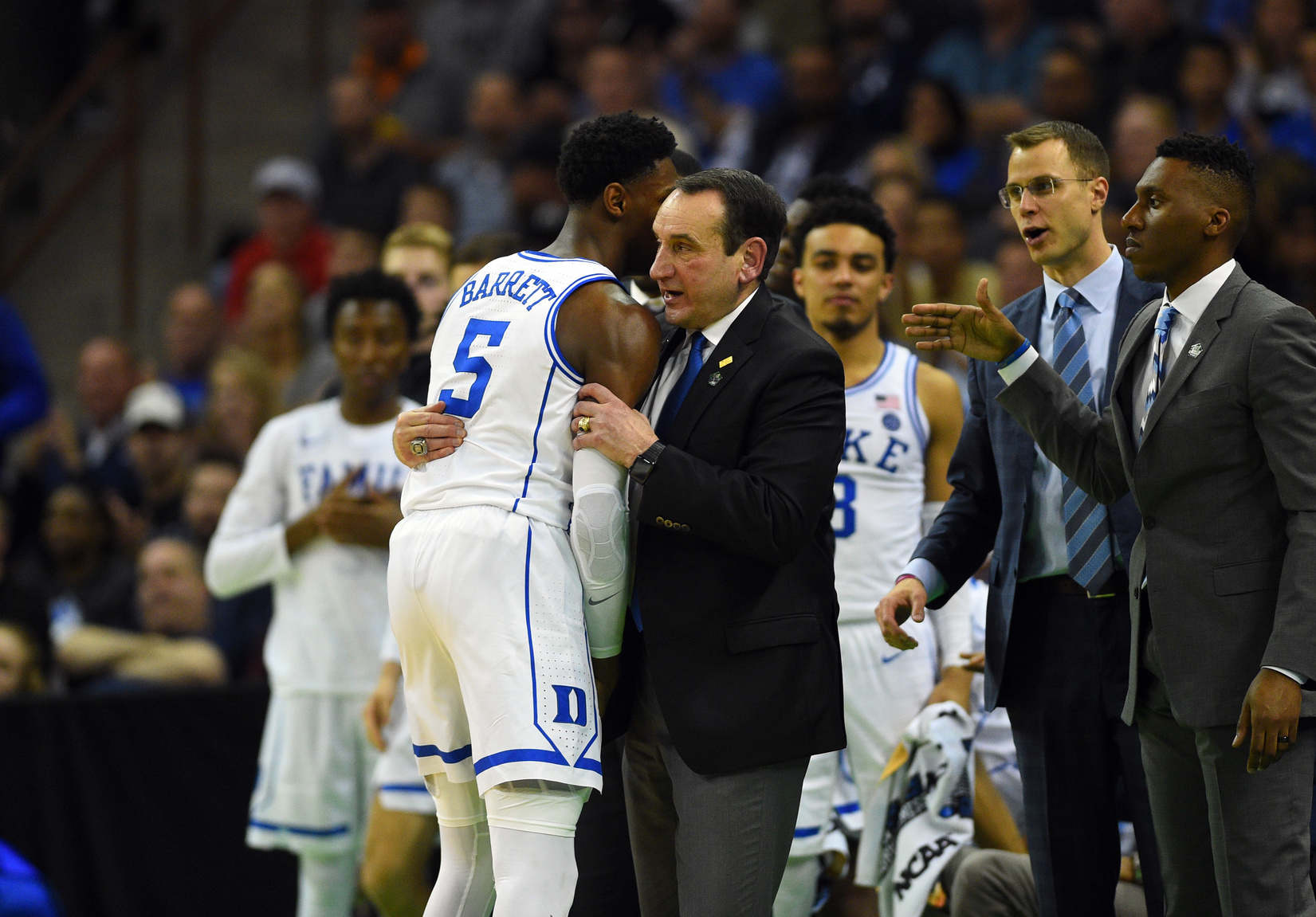 "Coach K says ""You're good""!"